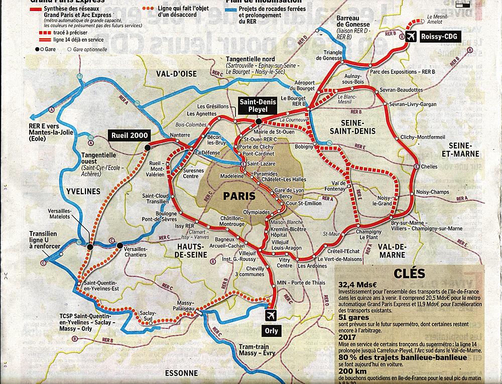 M tro paris est sa banlieue ou du petit au grand paris - Plan du peripherique parisien les portes ...